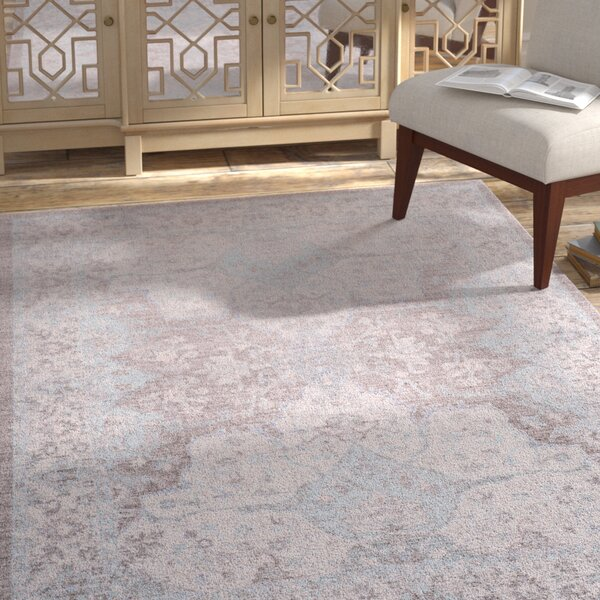 Edgehill Light Gray Area Rug by Bungalow Rose