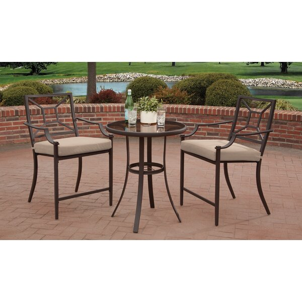 Theodis 3 Piece Bar Height Dining Set by Charlton Home