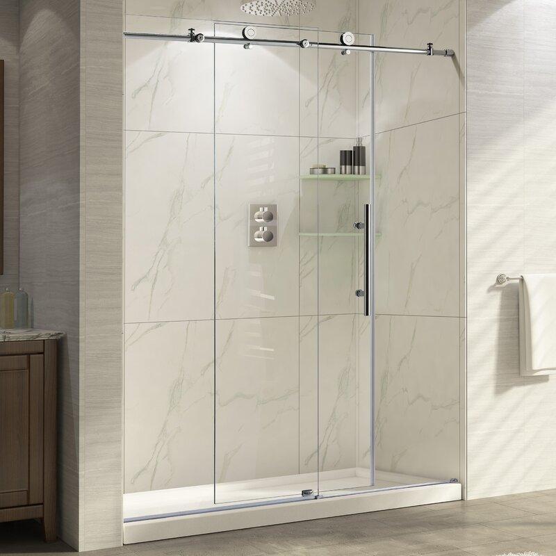 Wet Republic Trident 48 X 76 Single Sliding Frameless Shower