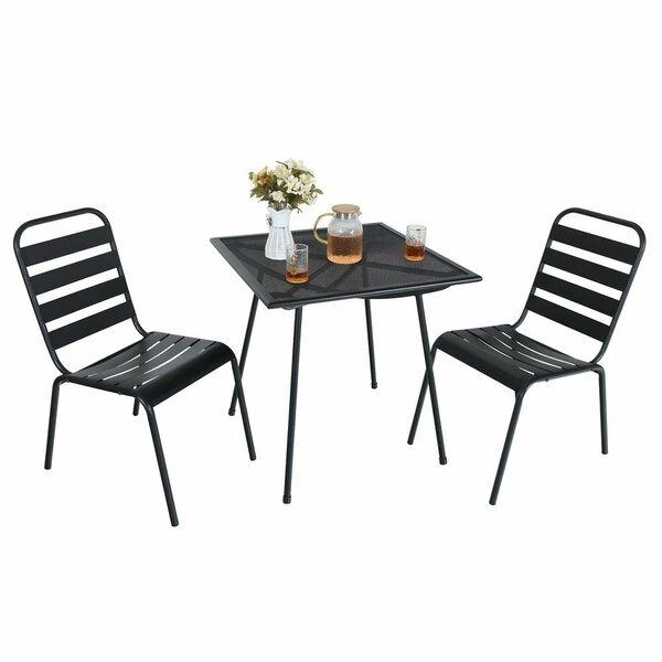 Isabeth 3 Piece Bistro Set by Ebern Designs