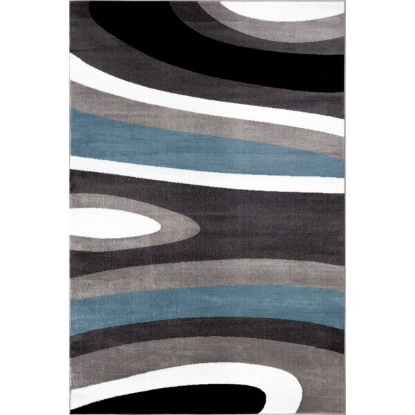 Alexandrea Gray/White Area Rug by Zipcode Design