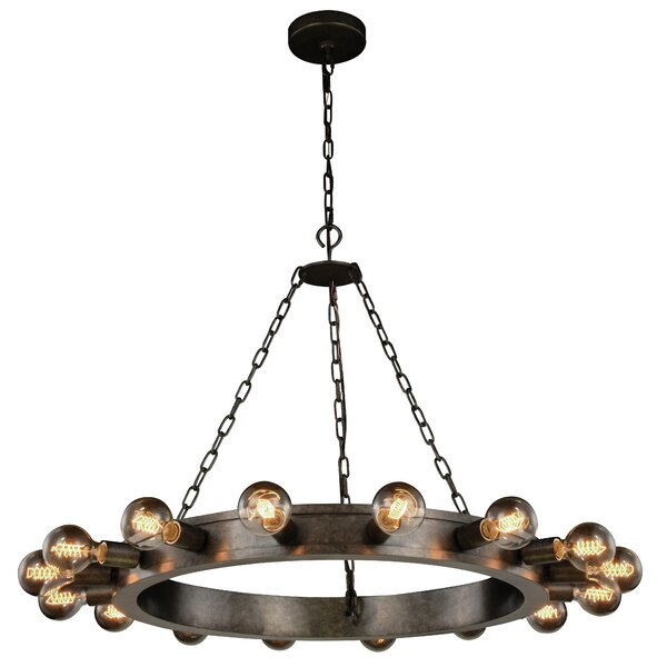 Fanetta 16 - Light Candle Style Wagon Wheel Chandelier By 17 Stories