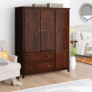 Shaker Wardrobe Armoire by Grain Wood Furniture