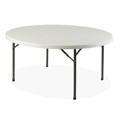 Round Folding Table by Lorell