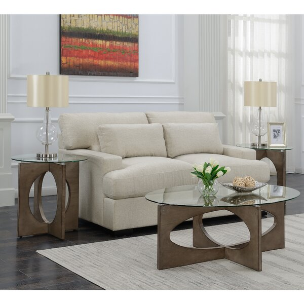 Chenley 3 Piece Coffee Table Set by Orren Ellis