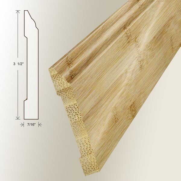 0.45 x 2.89 x 94 Bamboo Wall Base by Moldings Online