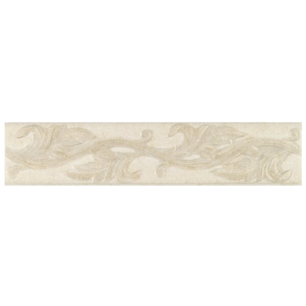 Natural Pavin Stone 3 x 14 Decorative Accent Strip in White Linen by Mohawk Flooring
