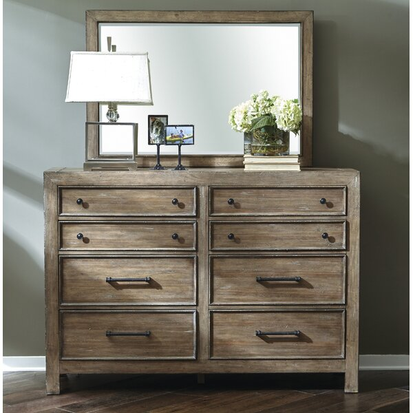 Bargain Chandelle 8 Drawer Double Dresser With Mirror By Gracie Oaks 2019 Online