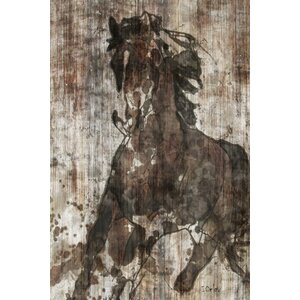 Galloping Horse Graphic Art on Wrapped Canvas by East Urban Home