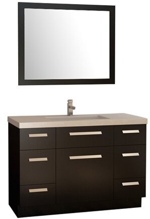 Arnette 48 Single Bathroom Vanity Set with Mirror by Mercury Row
