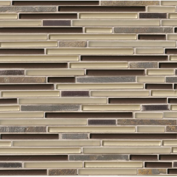 Windsor Canyon Interlocking Pattern 8mm Glass/Stone Mosaic Tile in Multicolor by MSI