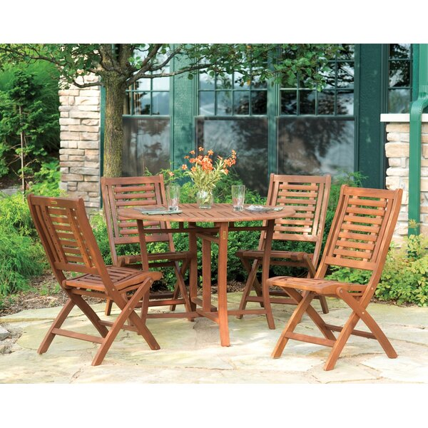 Roseland Brazilian Eucalyptus 5 Piece Dining Set By Beachcrest Home