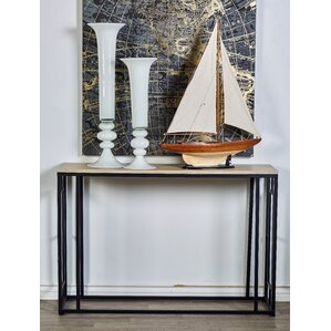 Metal Wood Console Table b..