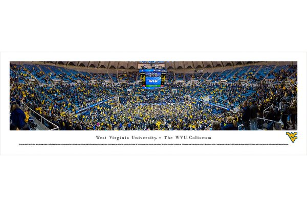 NCAA West Virginia University - Basketball by Christopher Gjevre Photographic Print by Blakeway Worldwide Panoramas, Inc