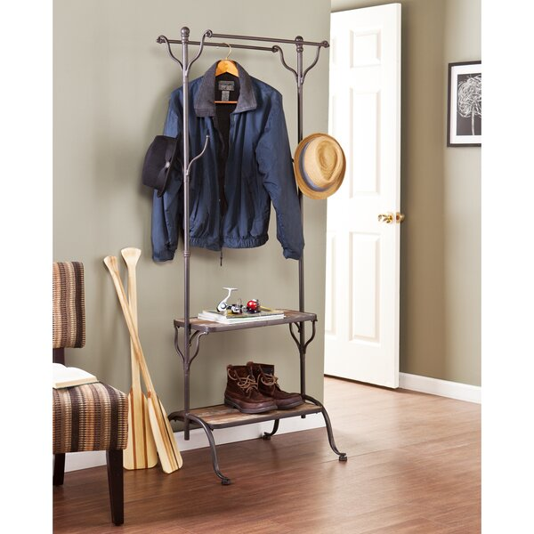 Hillwood Entryway Hall Tree with Shelf by Wildon H