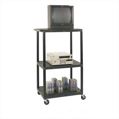 High Low Priced Table AV Cart with Locking Cabinet/Big Wheels by Luxor