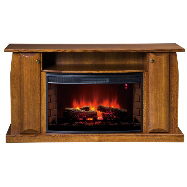 Iylah Curved LED Electric Fireplace By Latitude Run