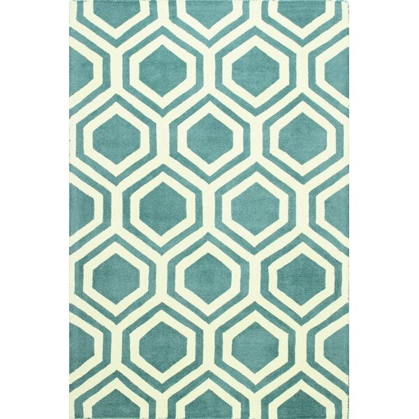 Rocco Wool Blue Area Rug by Bashian Rugs