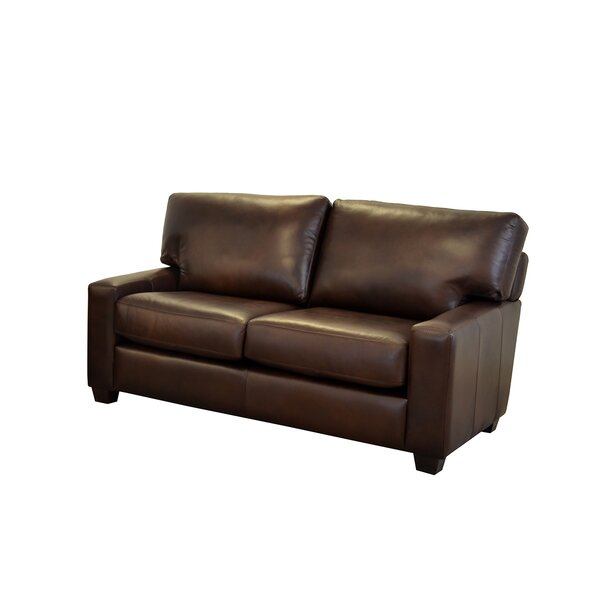 Best Bargain Kenmore Studio Leather Loveseat by Westland and Birch by Westland and Birch