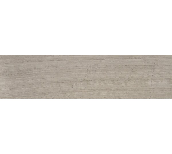 Cerro Hudson 6 x 24 Marble Wood Look/Field Tile in Gray by The Bella Collection
