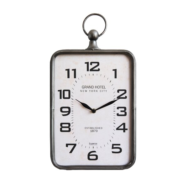 Crews Metal Hanging 13 Wall Clock by Williston Forge