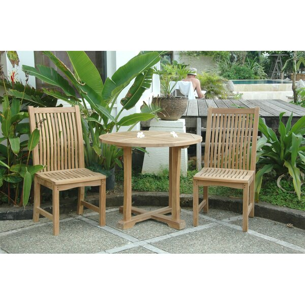 Anderson teak bahama chicago 3 piece dining set reviews for Bahama towel chaise cover