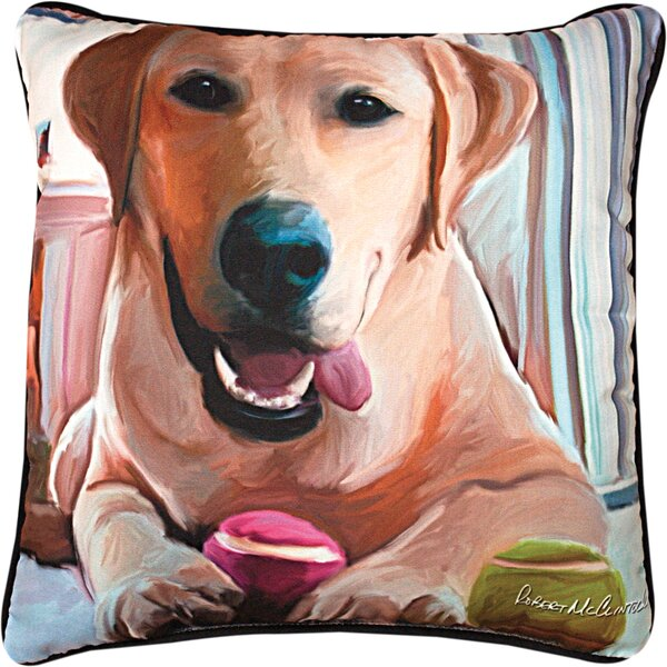 Tennis Anyone Lab Throw Pillow by Manual Woodworkers & Weavers