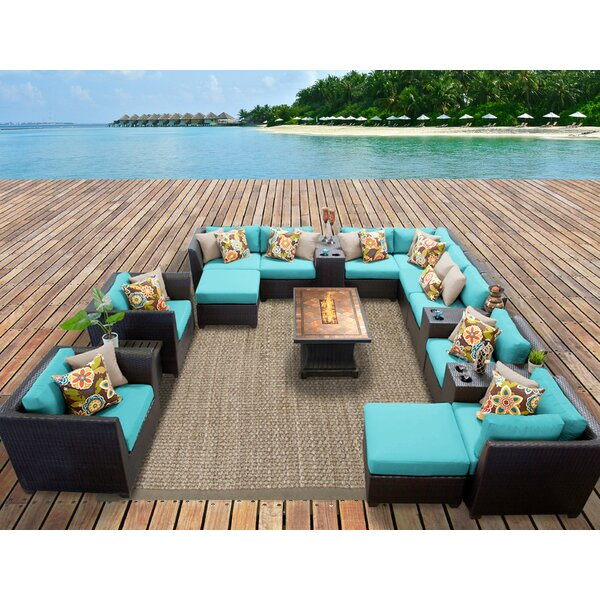 Barbados 17 Piece Sectional Set with Cushions by TK Classics