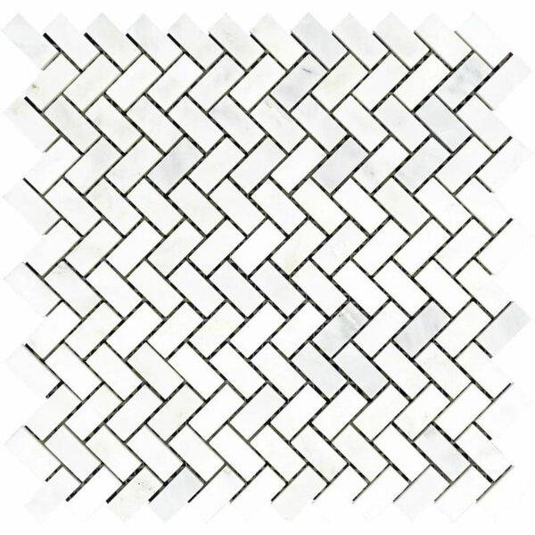 0.63 x 1.25 Marble Chevron Mosaic Wall & Floor Tile