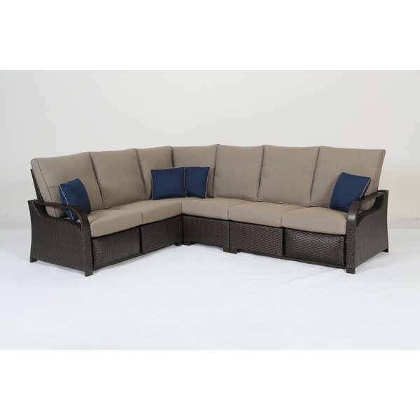 Snider Patio Sectional with Cushions by Bayou Breeze