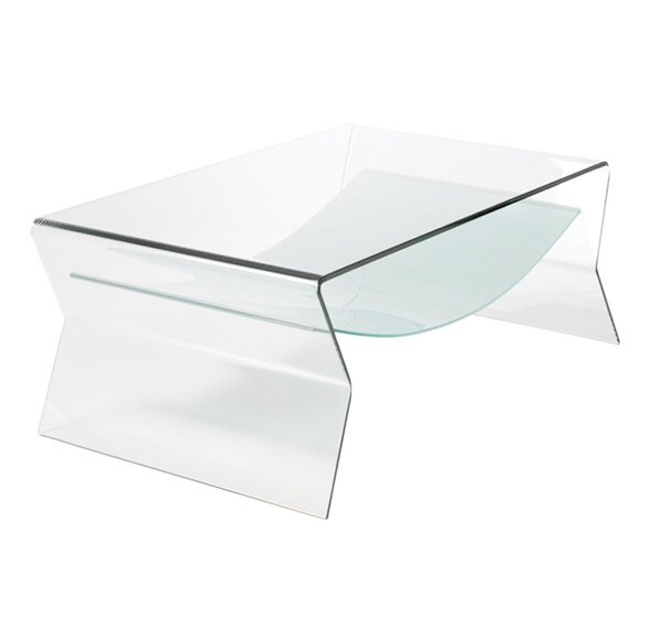 Bent Glass Coffee Table by Fab Glass and Mirror