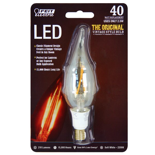 40W 120-Volt Flame Tip LED Light Bulb by FeitElectric