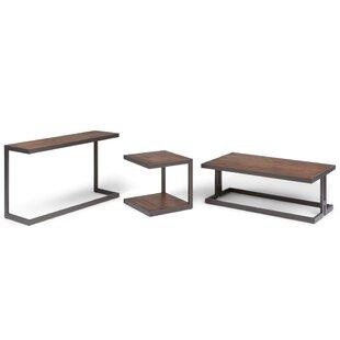 Erina 3 Piece Coffee Table Set Simpli Home Wonderful
