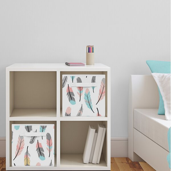 Feather Fabric Storage Cube by Sweet Jojo Designs