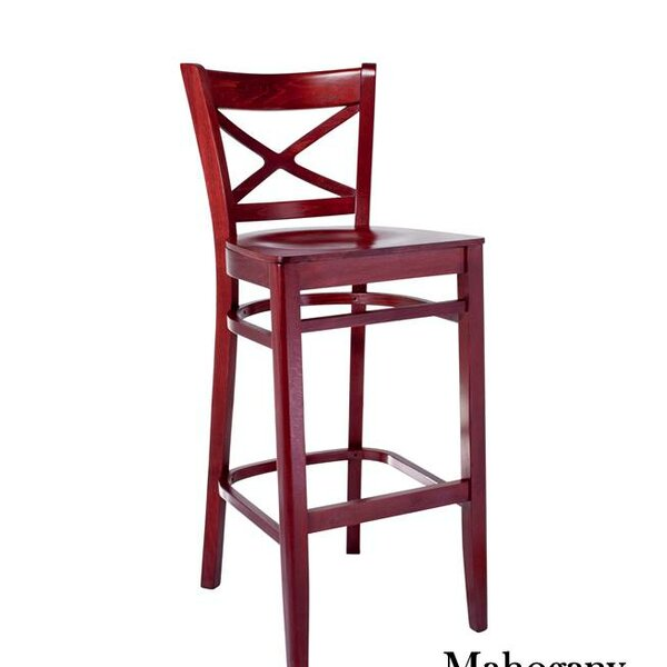 Helmuth Cross Back 30 Bar Stool by August Grove