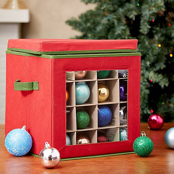 Non-Woven Christmas Ornament Storage by Home Basics