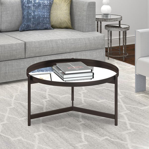 Mauricio 3 Legs Coffee Table With Tray Top By Hashtag Home