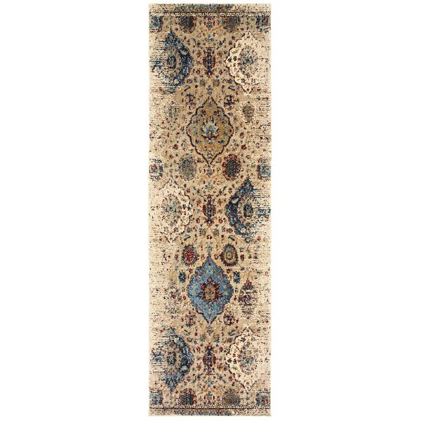 Quenby Ivory/Blue Area Rug by Bloomsbury Market