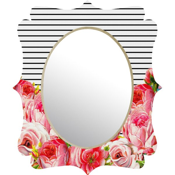Bold Floral & Stripes Accent Mirror by Deny Designs