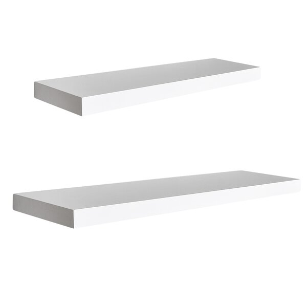 Mission 2 Piece Floating Shelf Set by Welland LLC