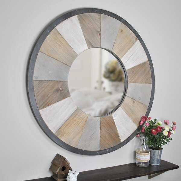 Tisbury Rustic Wood Accent Mirror by Union Rustic