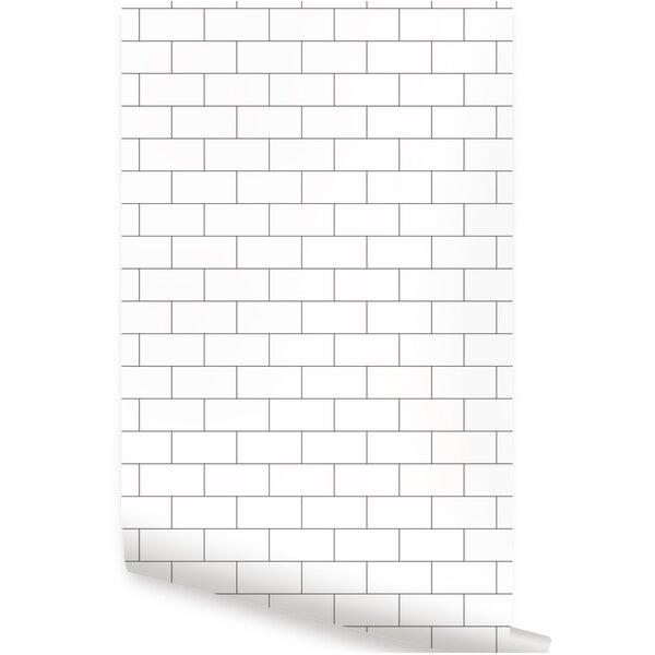 Maxey 48'' L x 24'' W Brick Peel and Stick Wallpaper Tile by Ebern Designs