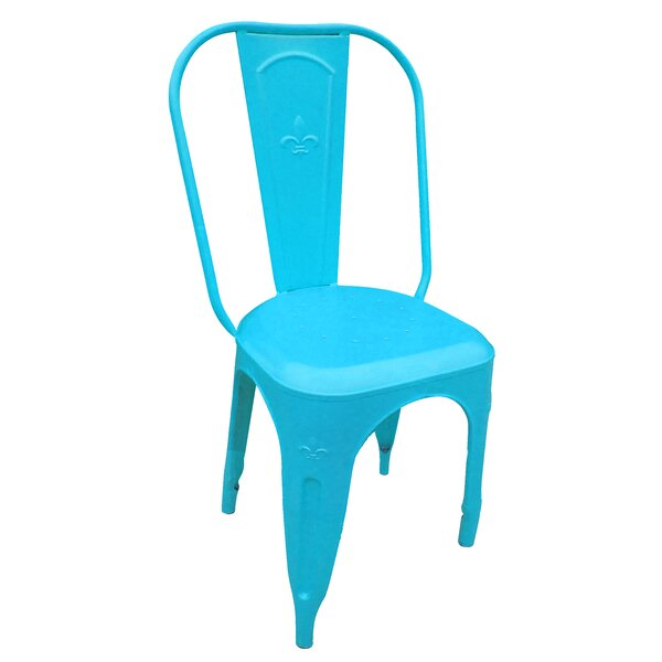 Michelle Fleur de Lis Stacking Patio Dining Chair by Latitude Run