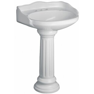 Shop For Victoria Vitreous China Circular Pedestal Bathroom Sink with Overflow By Barclay