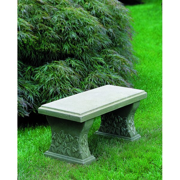 Snowdrop Cast Stone Garden Bench by Campania International