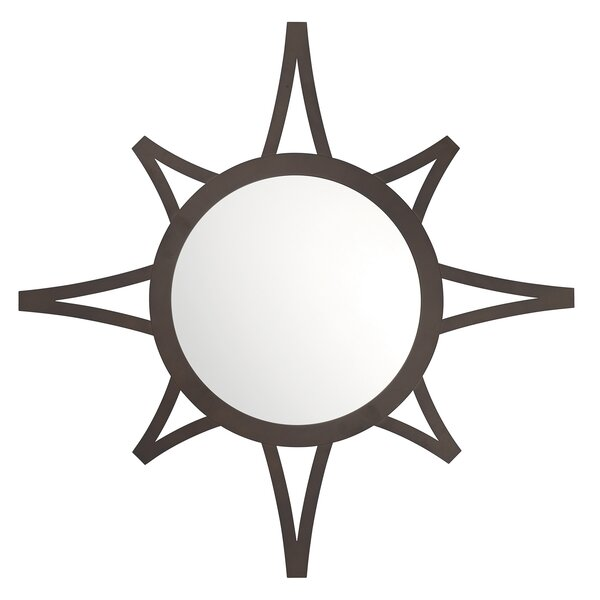 Sunburst Metal Decorative Wall Mirror by Latitude Run