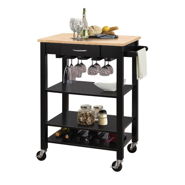Langley Kitchen Cart With MDF Top By Rebrilliant