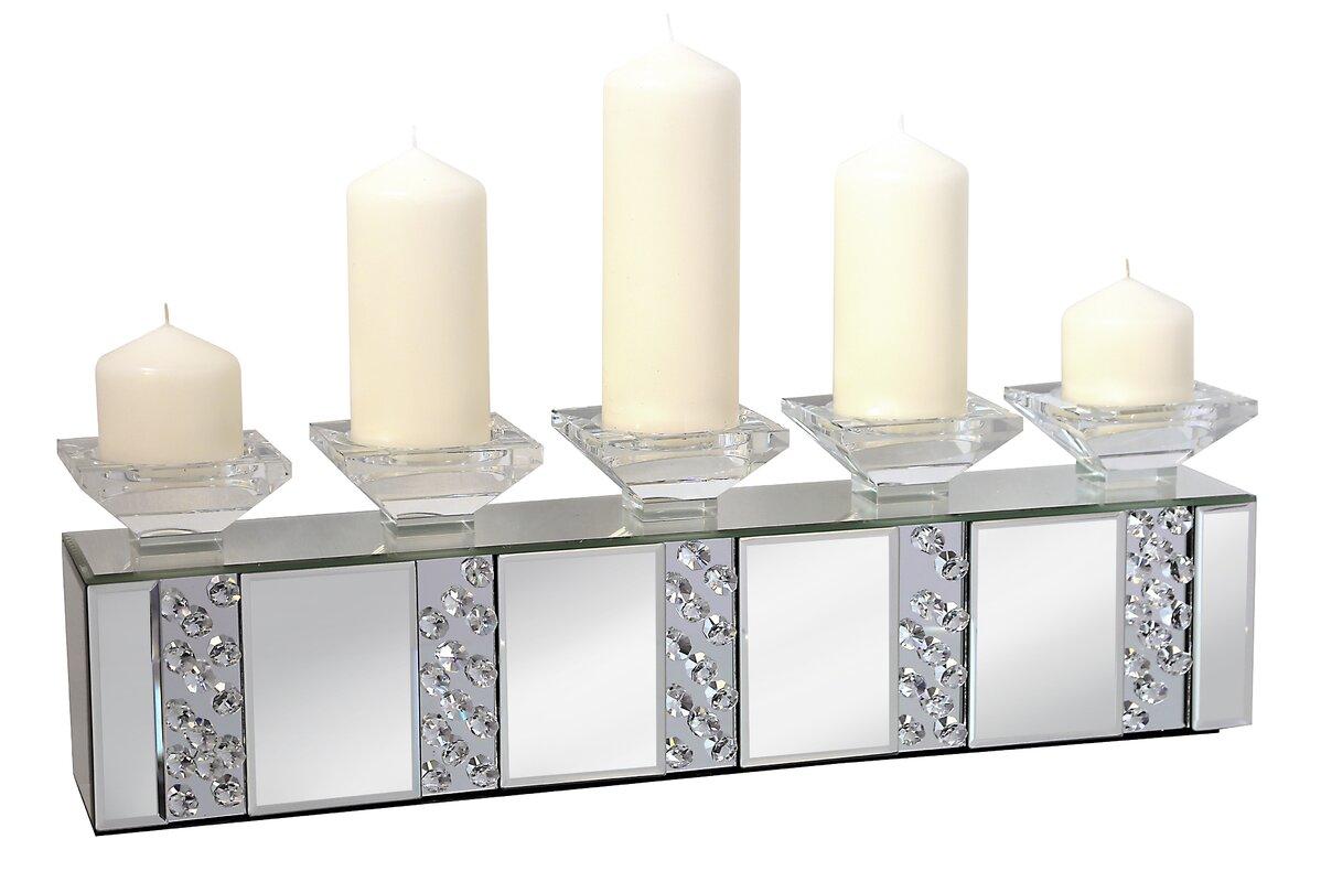 wildon home kerzenleuchter rhombus glass aus glas und metall. Black Bedroom Furniture Sets. Home Design Ideas