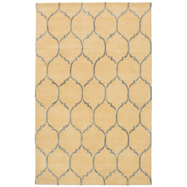 Hartland Hand-Tufted Wool/Silk Cream Area Rug by Mercer41