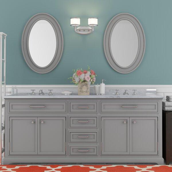 Bergin 72 Double Bathroom Vanity Set with Mirror